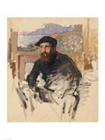 Self Portrait in his Atelier, 1884 by Claude Monet, 1884 - various sizes