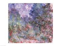 The House at Giverny Viewed from the Rose Garden, 1922-24 Fine Art Print