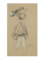 Man with a Boater Hat, 1857 Fine Art Print