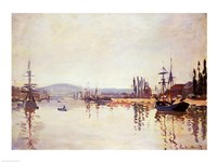 The Seine Below Rouen by Claude Monet - various sizes, FulcrumGallery.com brand