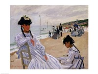 On the Beach at Trouville Fine Art Print