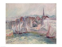 Boats in the Port of Honfleur, 1917 by Claude Monet, 1917 - various sizes