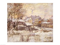 Snow Effect with Setting Sun, 1875 Fine Art Print