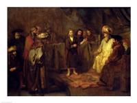 The Twelve Year Old Jesus in front of the Scribes by Rembrandt van Rijn - various sizes