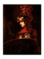 Pallas Athena or, Armoured Figure Fine Art Print