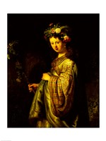 Saskia as Flora, 1634 Fine Art Print