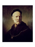 Portrait of Rembrandt's Father Fine Art Print