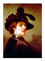 Self Portrait in Fancy Dress, 1635 Fine Art Print