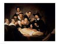 The Anatomy Lesson of Dr. Nicolaes Tulp, 1632 Framed Print