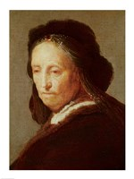 Portrait of an old Woman-1700 by Rembrandt van Rijn, 1700 - various sizes, FulcrumGallery.com brand