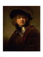 'Tronie' of a Young Man with Gorget and Beret, c.1639 Fine Art Print
