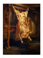 The Slaughtered Ox, 1655 Fine Art Print