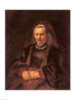 Portrait of an Elderly Woman, 1650 by Rembrandt van Rijn, 1650 - various sizes, FulcrumGallery.com brand