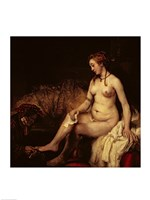Bathsheba Bathing, 1654 Fine Art Print