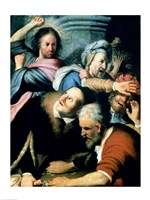 Christ Driving the Moneychangers from the Temple, 1626 by Rembrandt van Rijn, 1626 - various sizes, FulcrumGallery.com brand
