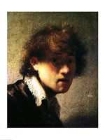 Head of a Young Man or Self Portrait, 1629 by Rembrandt van Rijn, 1629 - various sizes