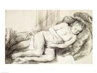 Reclining Female Nude Fine Art Print