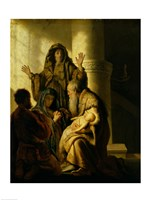 Simeon and Hannah in the Temple, c.1627 Fine Art Print