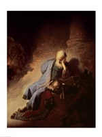 Jeremiah mourning over the Destruction of Jerusalem Fine Art Print