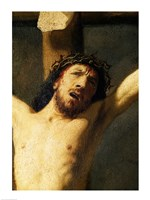 Christ on the Cross, detail of the head Fine Art Print