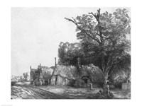Landscape with Three Cottages, 1650 Fine Art Print
