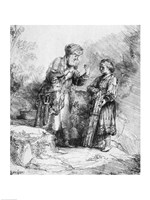 Abraham and Isaac, 1645 Fine Art Print