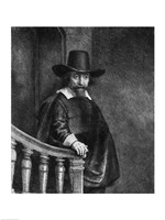 Ephraim Bonus, known as 'The Jew with the Banister' Fine Art Print