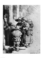 Beggars on the Doorstep of a House, 1648 by Rembrandt van Rijn, 1648 - various sizes