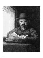 Self portrait while drawing, 1648 Fine Art Print