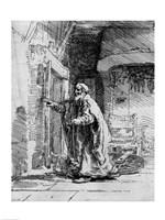 The blind Tobit, 1651 Fine Art Print
