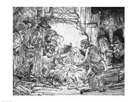 Nativity, 1654 by Rembrandt van Rijn, 1654 - various sizes