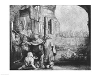 St. Peter and St. John at the Entrance to the Temple, 1649 Fine Art Print