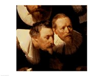 The Anatomy Lesson of Dr. Nicolaes Tulp, 1632 (two viewers detail) Fine Art Print