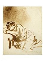 A Young Woman Sleeping Fine Art Print