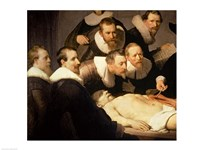 The Anatomy Lesson of Dr. Nicolaes Tulp, 1632 (detail) Fine Art Print