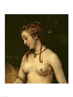Bathsheba Bathing, 1654 (upper detail) Fine Art Print