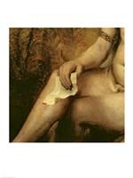 Bathsheba Bathing, 1654 (lower detail) Fine Art Print
