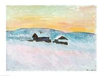 Norwegian Landscape, Blue Houses, 1895 Fine Art Print