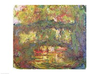 The Japanese Bridge at Giverny-24 - yellow, 1918 by Claude Monet, 1918 - various sizes