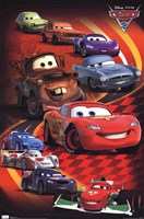 Cars 2 - Group Wall Poster