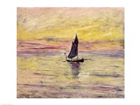 The Sailing Boat, Evening Effect, 1885 by Claude Monet, 1885 - various sizes, FulcrumGallery.com brand