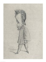 Caricature of the Journalist Theodore Pelloquet, 1858 Fine Art Print