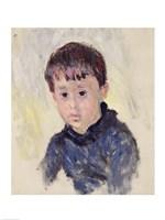 Michel Monet in a Blue Jumper Fine Art Print