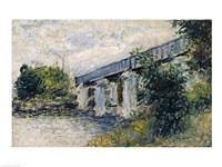 Railway Bridge at Argenteuil, 1874 by Claude Monet, 1874 - various sizes