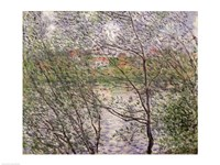 The Banks of the Seine or, Spring through the Trees by Claude Monet - various sizes, FulcrumGallery.com brand
