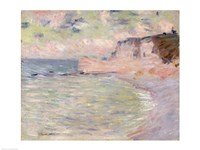 Cliffs and the Porte d'Amont, Morning Effec by Claude Monet - various sizes
