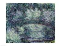 The Japanese Bridge - blue by Claude Monet - various sizes