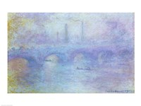 Waterloo Bridge, Effect of Fog, 1903 Framed Print