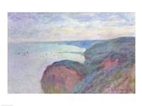 Cliffs near Dieppe, 1897 Fine Art Print
