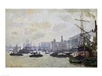 The Thames at London, 1871 Framed Print